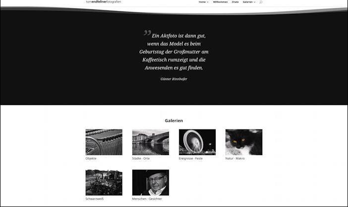 Designbeispiel tomendfellner fotografien