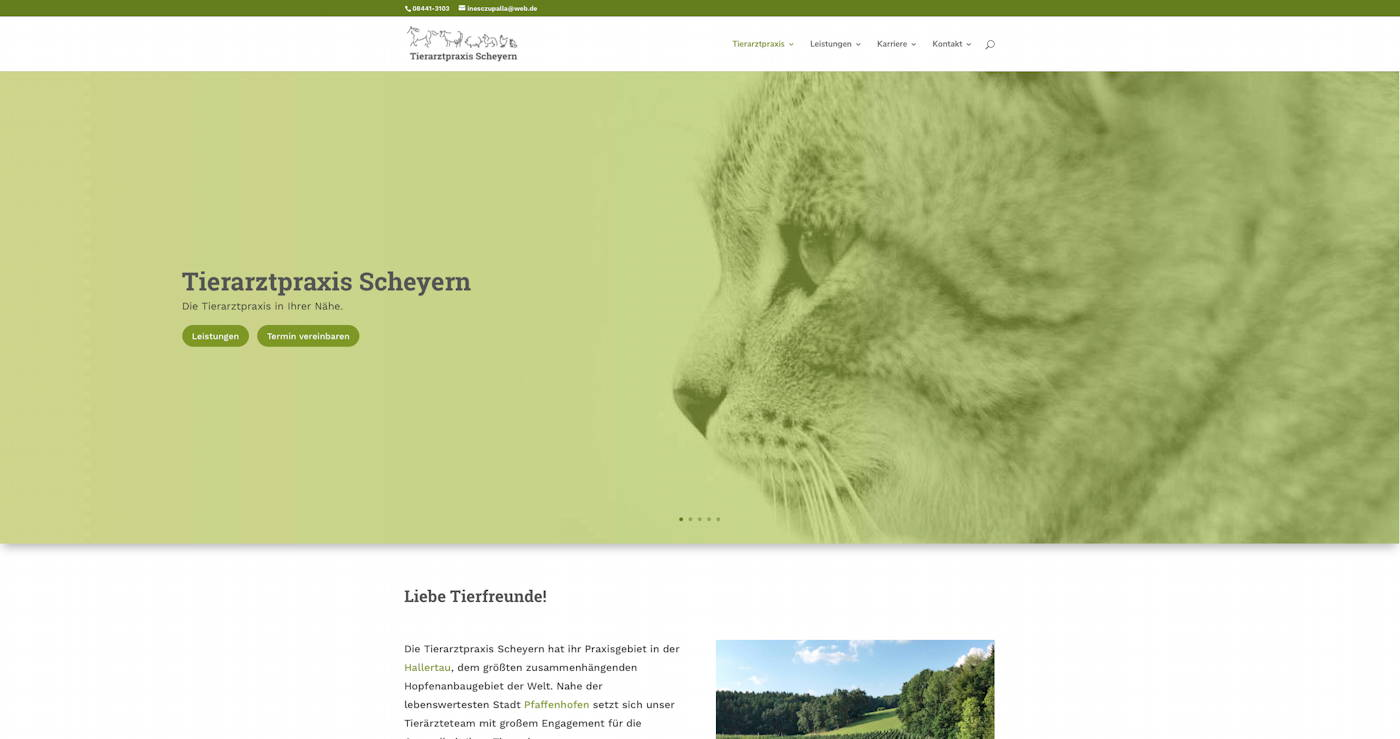 Designbeispiel Tierarztpraxis Scheyern