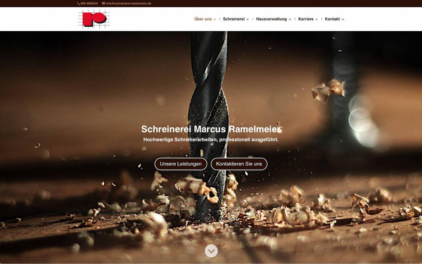 Designbeispiel Schreinerei Marcus Ramelmeier